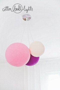 Cotton Ball Lamp L 36cm
