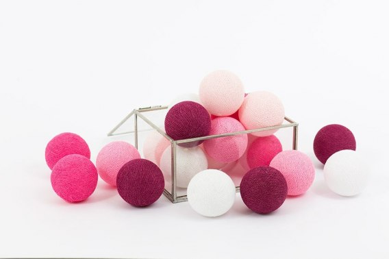Cotton Balls Sweet Pink by Cottonove 20L